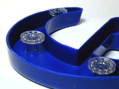 Formed Plastic with Pad Hardware - View of Pads